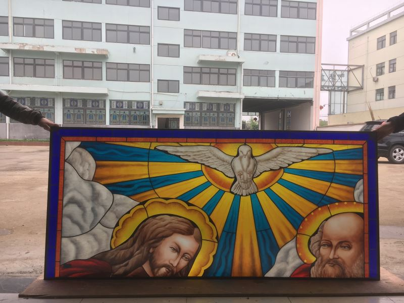 Insulated safety soundproof stained glass church window
