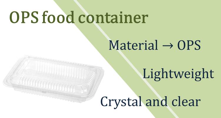 Clear plastic transparent containers with lid