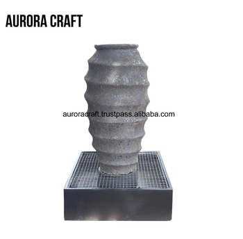 outdoor garden ceramic big water fountain
