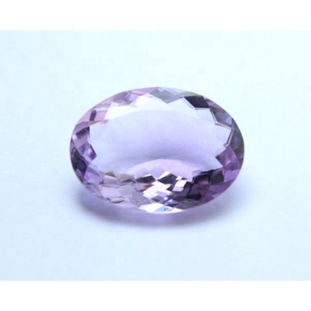 Beautiful Natural Amethyst Faceted Cut Stone Cabochon Oval Shape Wholesaler Price