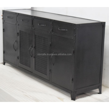 Metal Industrial Sideboard Cabinet Retro Vintage Design Buy