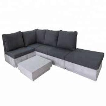 Fibergl Cement Concrete Sofa Set Outdoor Garden Furniture Fibregl Dining Table