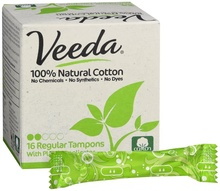 Made in USA-Regular Naturale di Cotone Tamponi NON OGM BPA Libero Applicatore 1200 per caso