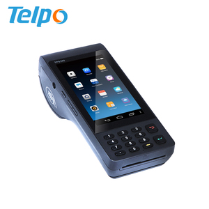 New Design 3G Handheld Android POS with printer Smart all in one POS machine NFC PDA Barcode Scanner