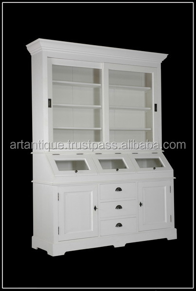 French Glass Display Cabinet Without Doors For Living Room Buy
