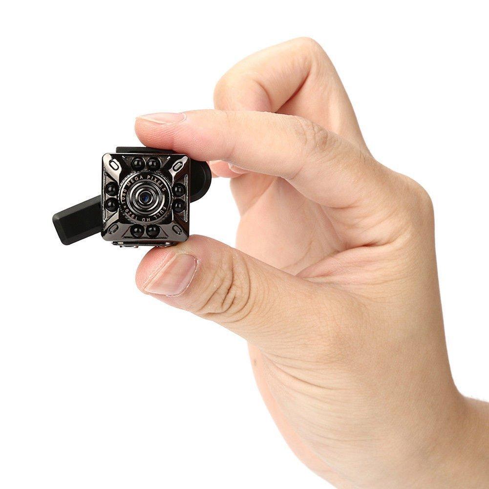 SQ10 1080P Mini Camera 12.0MP IR Night Vision Camcorder Mini DV Camera Small Home Camera Home Security Surveillance Camera Full HD Mini Video Camera for Home Security Systems with Camera Holder