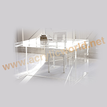 Acrylic Backgammon Table With Inset Tempered Glass Game Board