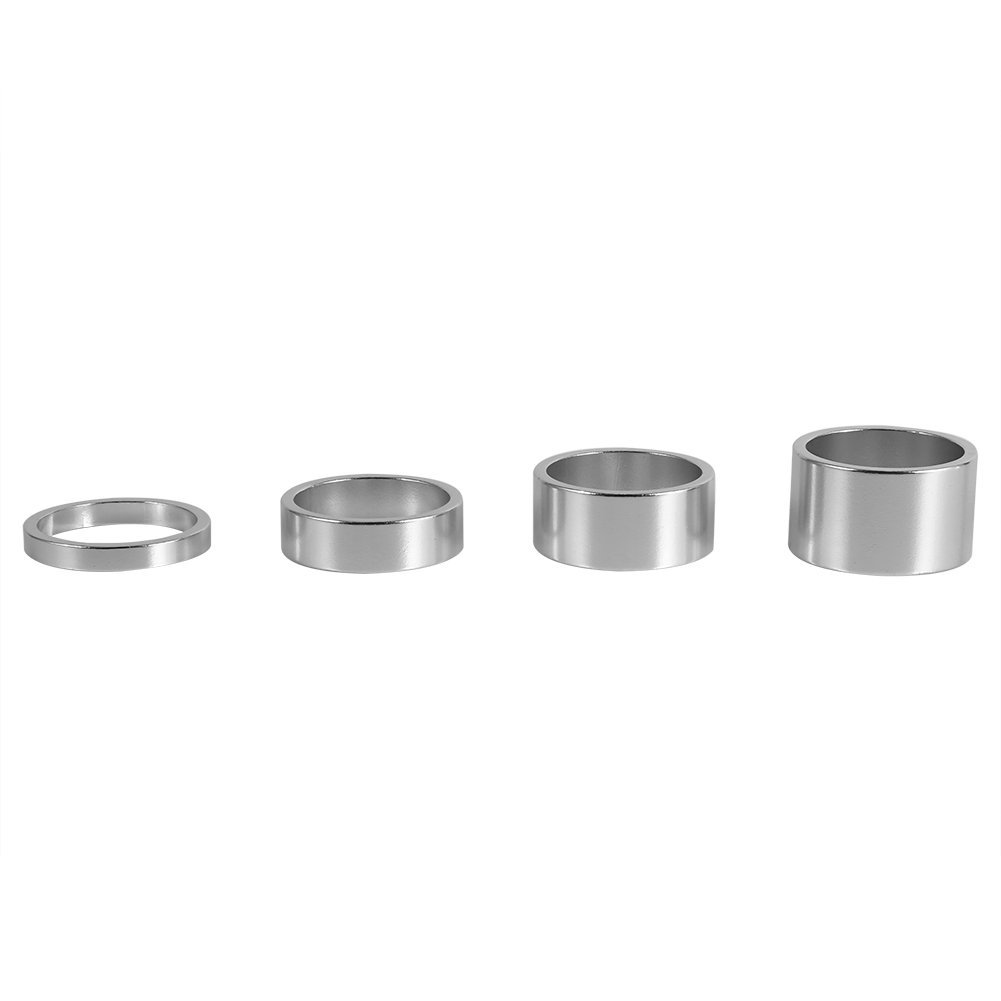 Bike Headset Spacer Aluminum Alloy Stem Spacers Fork Washer 4Pcs/Set 5mm/10mm/15mm/20mm