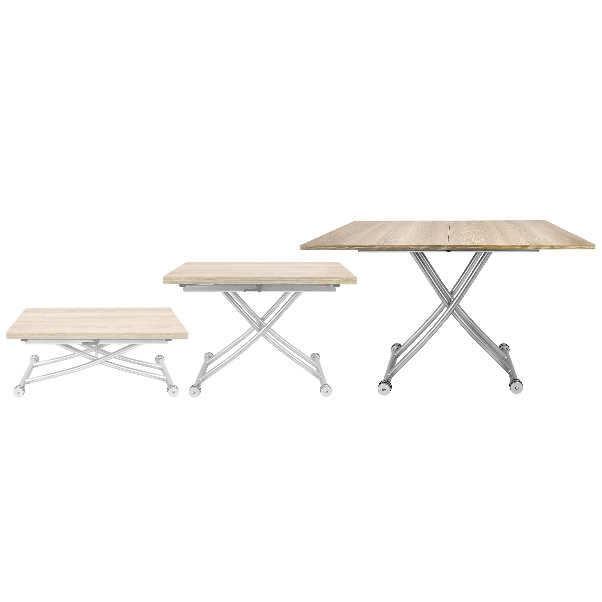 Corner Housewares Transforming X Coffee and Dining Table in Light Wood