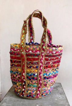 Indian Handmade Summer Fashion Jute Rug Totebags Handbags For Women