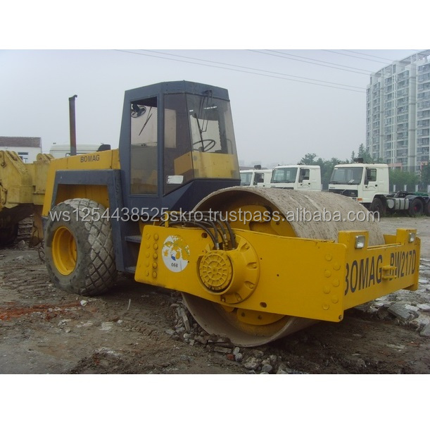 Nice working Bomag BW217D used road roller for sale