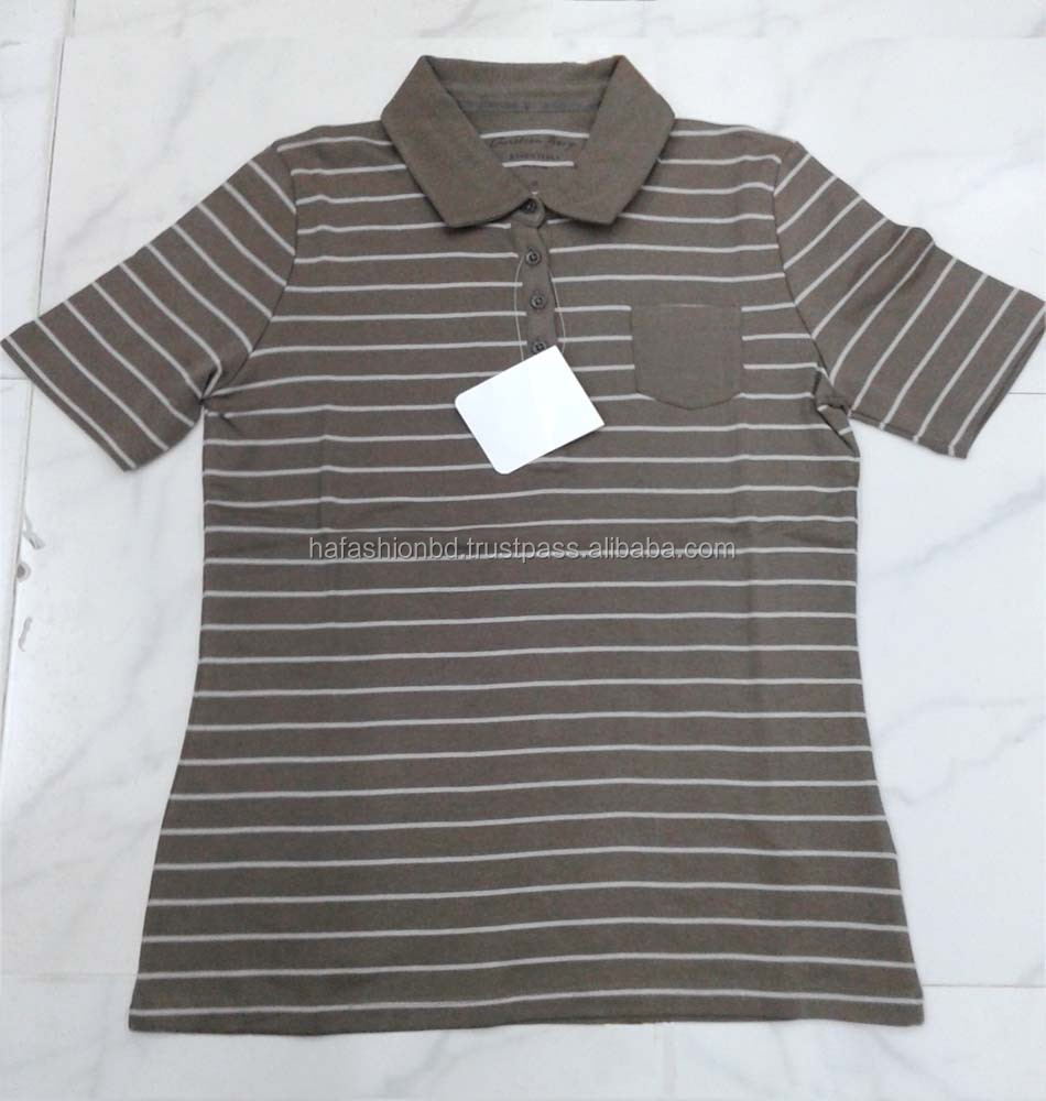 Hot selling Best Price Feeder stripe men's pique polo shirt