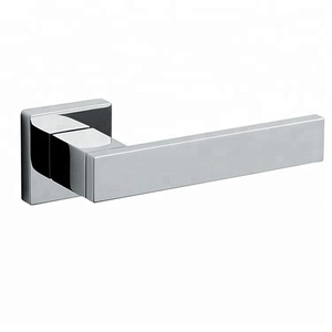 euro304 stainless steel solid unique contemporary design special luxury brushed polished chrome entry square door lever handles