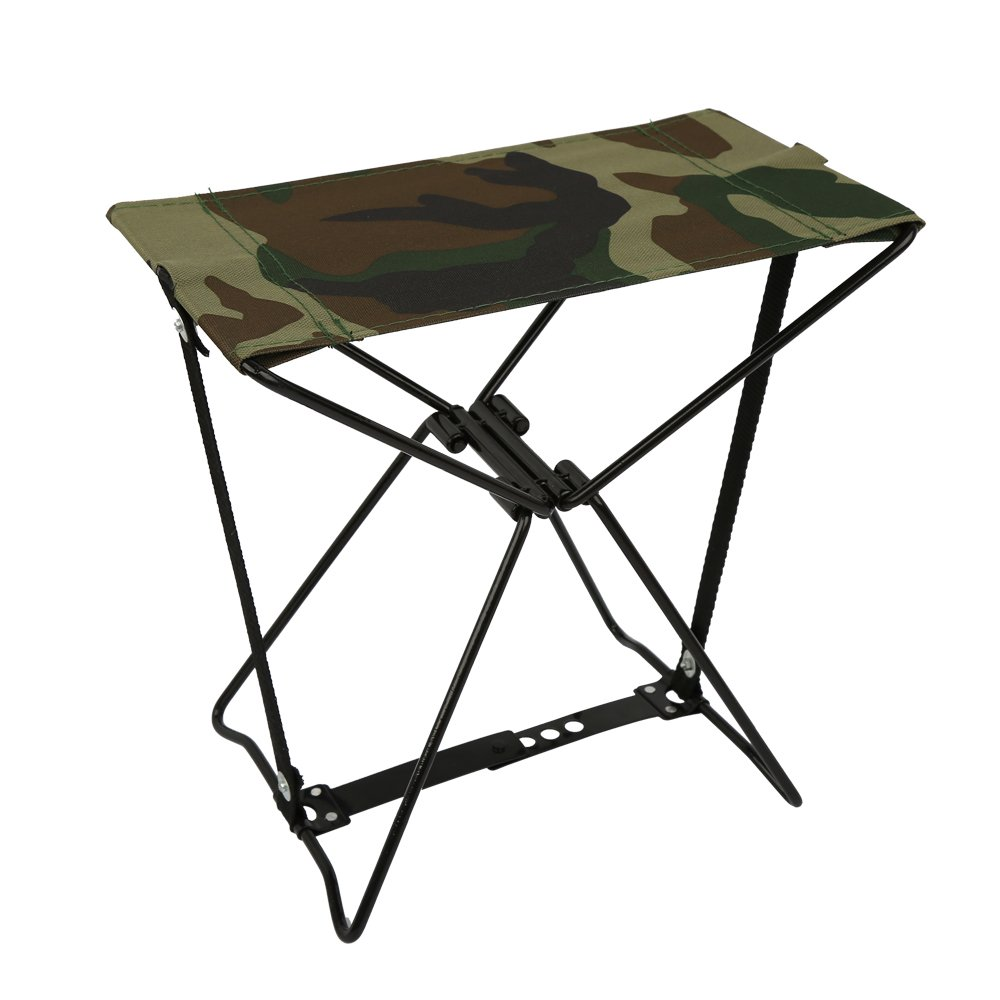 Color Red Academy Broadway 50370 Steel Frame Nylon Seat Folding Camp Stool