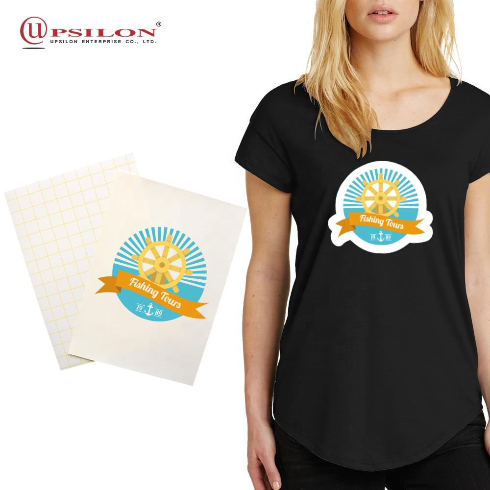 Logo Design Inkjet Print Heat Transfer Paper Dark Fabric