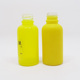 Essential oil packaging empty yellow glass dropper bottle with label