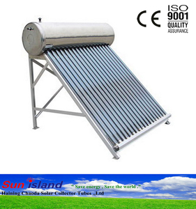 home solar water heater system stainless steel, non-pressurized solar water heater