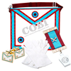 Masonic regalia apron gloves jewels Lambskin Masonic MARK Master Masons Apron MM Gloves