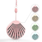 New Custom Summer mini rechargeable led cooling fan with makeup mirror