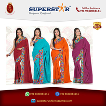 Medium Kwaliteit Custom ontworpen uniform sarees