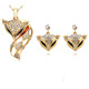 Dubai gold jewelry /18K gold fox Jewelry Set Necklace eardrop
