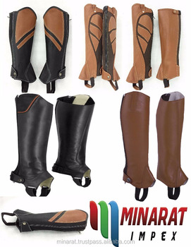 Tan Horse Riding Leather Chaps Equestrian Custom