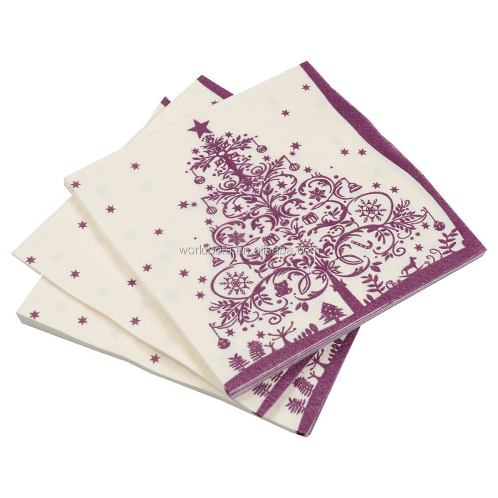 Party supply custom printed disposable dispenser paper napkins