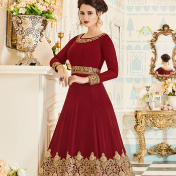Heavy Work Premium Ladies Anarkali Design Suit