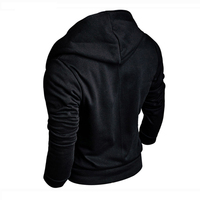 Mens Custom made Black colour hoodie zipper cheap high quality