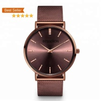 Low MOQ China Factory Full stainless steel watch hand japan movt lady bracelet wrist watch women
