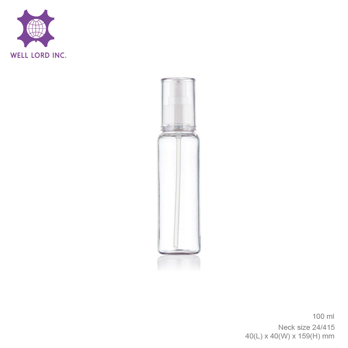 Beauty natural mist liquid mist 50ml bottle refillable bottle spray