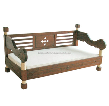 Antique Furniture Wooden Teak Sofa Bed Classic Bali Style