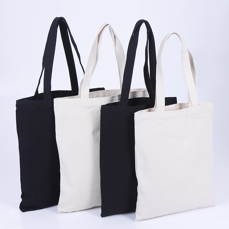 Eco Reusable Custom 면 Canvas Tote Shopping Bags 와 빈 키 빈 Printed