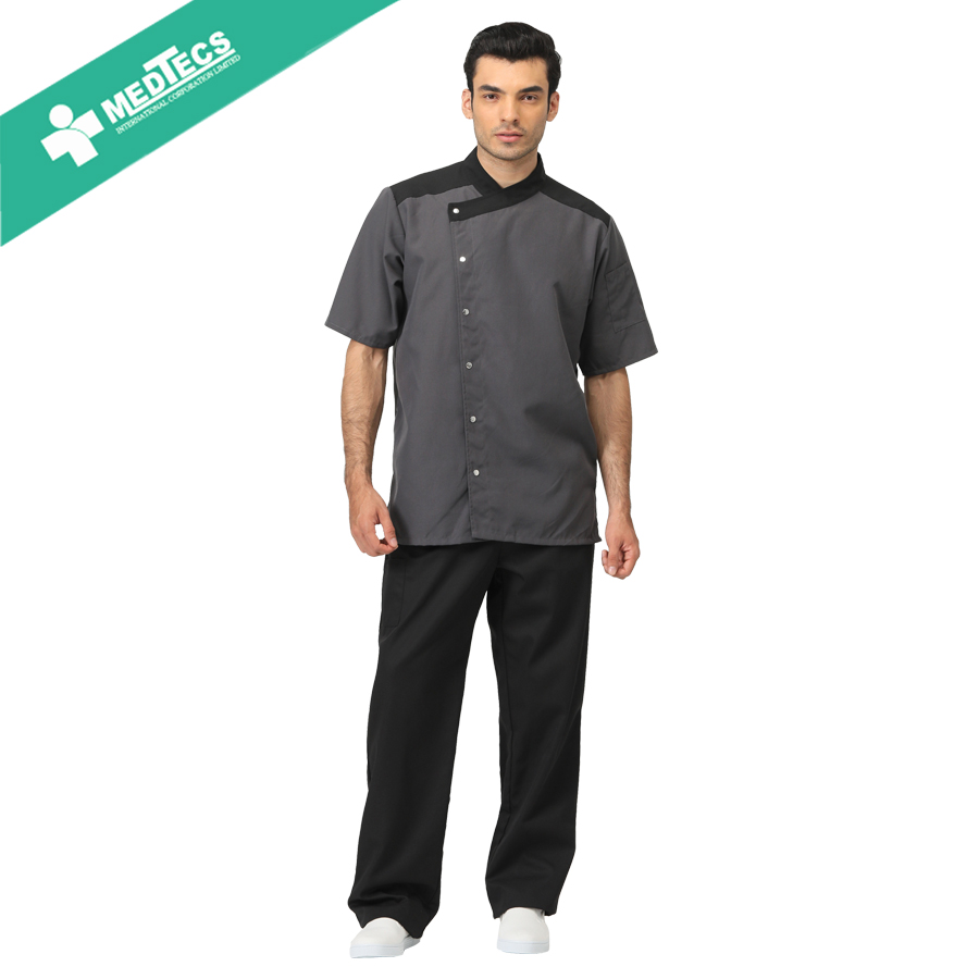 Chef shirt korte mouw bakers uniform jas
