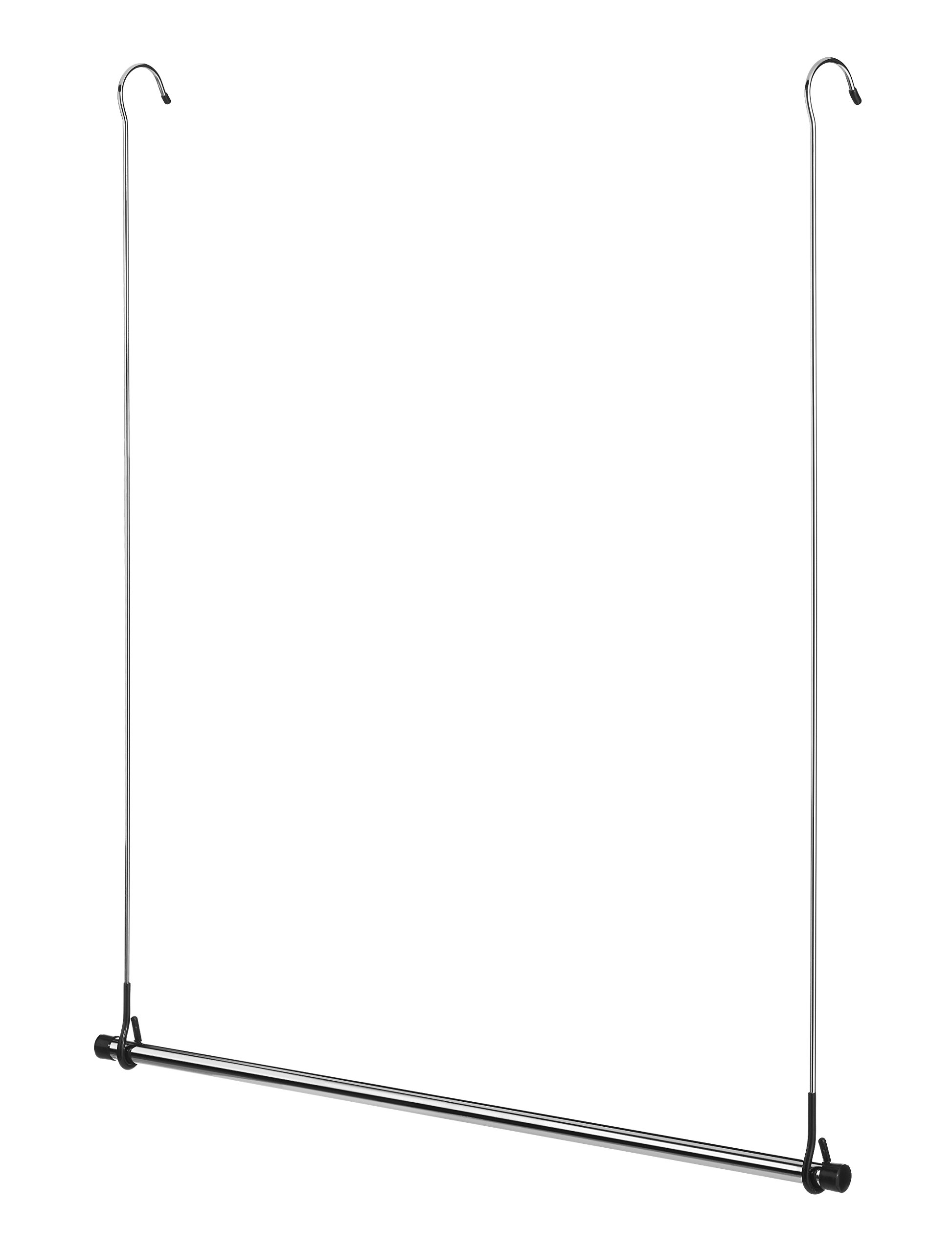 Get Quotations · Whitmor 6021 378 Ebony Chrome Collection Double Closet Rod