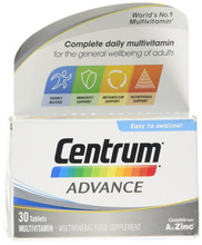 Centrum Advance Multivitamin Tablets, Pack of 30 Expires in 10/18
