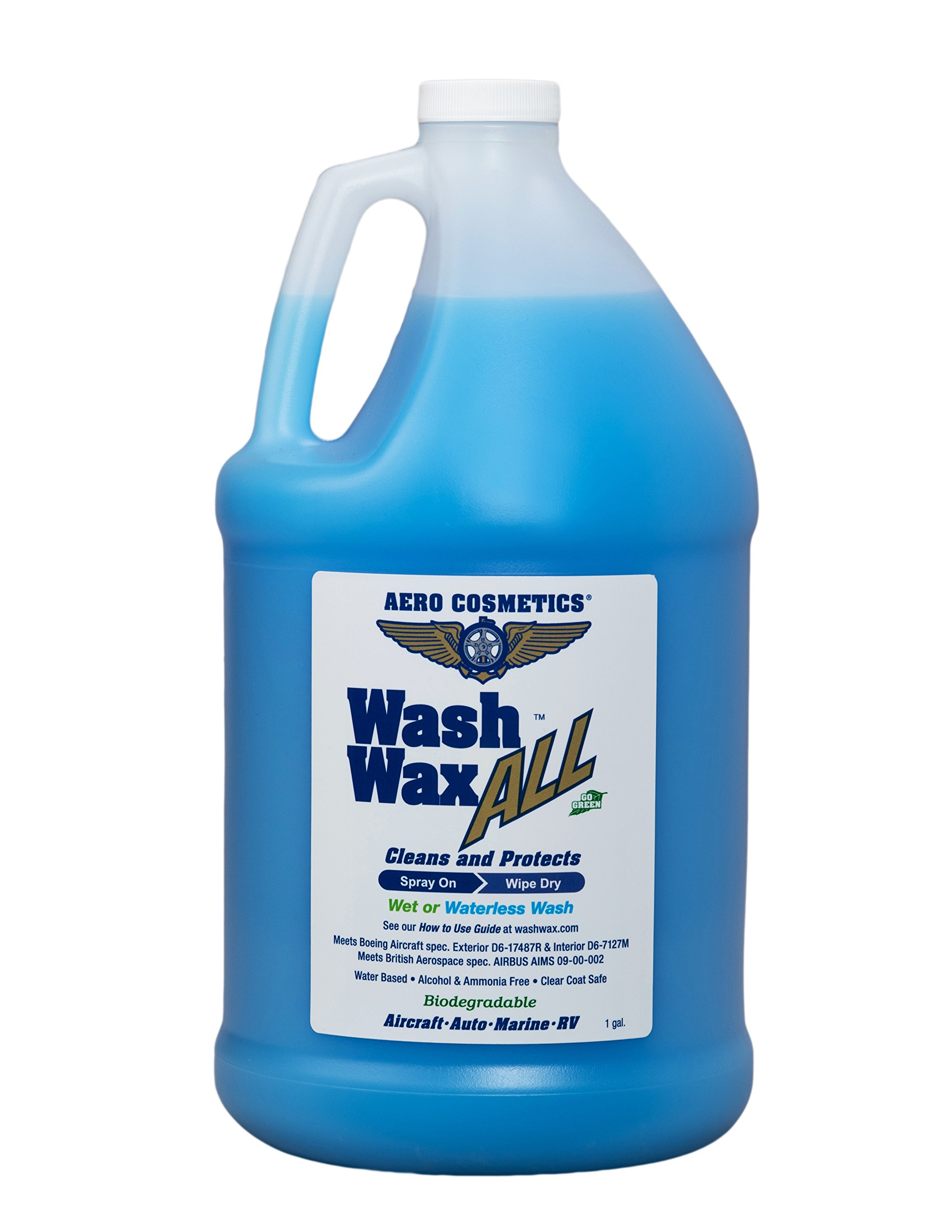 Wet or Waterless Car Wash Wax 128 oz. Aircraft Quality Wash Wax for your Car RV & Boat. Guaranteed Best Waterless Wash on the Market