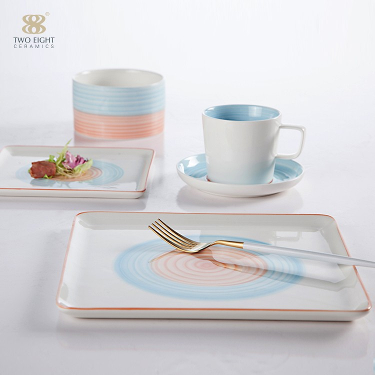 product-Two Eight-hotel and restaurant white ceramic dinnerware set matt white tableware set-img-2