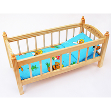 Big Size Houten Babypop <span class=keywords><strong>Bed</strong></span> Meubels Speelgoed