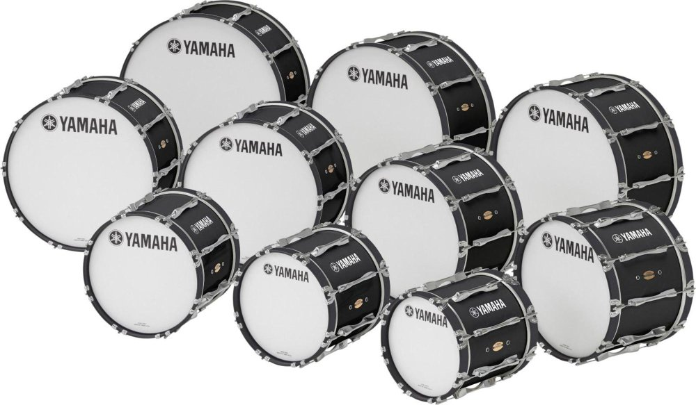 "Yamaha ""26"""" x 14"""" 8300 Series Field-Corps Marching Bass Drum Black Forest"""