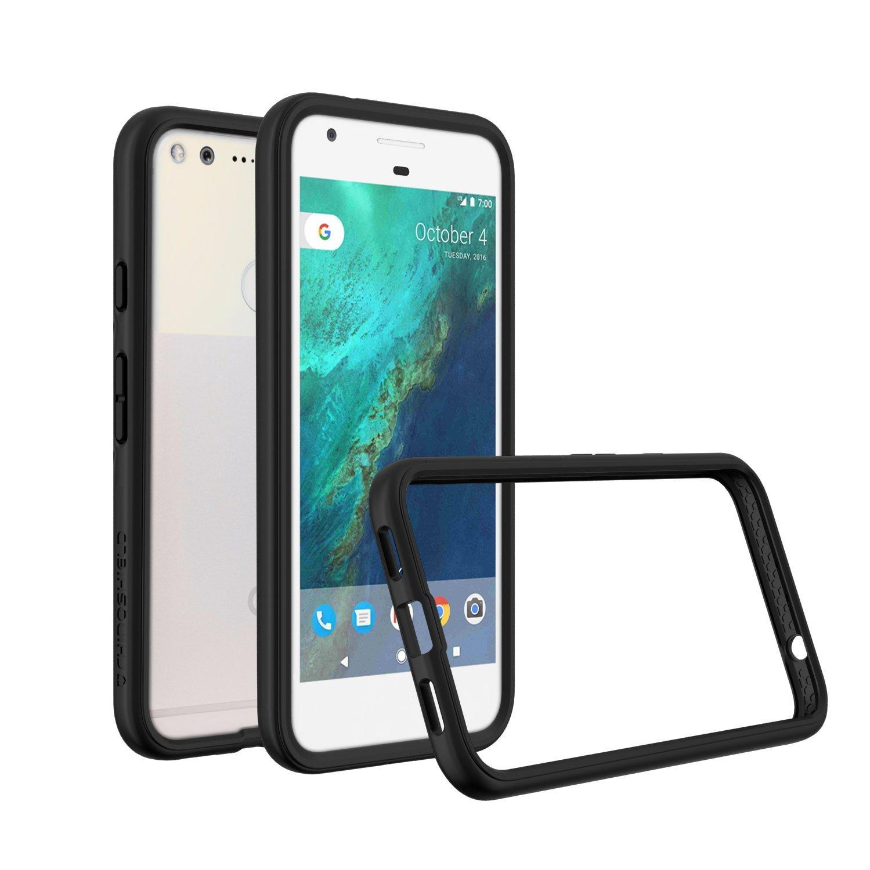 Google Pixel Case - RhinoShield [CrashGuard] Bumper [11 Ft Drop Tested] - UPDATED VERSION - No Bulk [ShockProof Technology] Thin Lightweight Protection [New Version] Slim Rugged Cover - [Black]