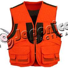 High Visibility Safety Orange Hunting Vest With Multi Pockets Top Selling Hunting Hiking Outdoor Vest