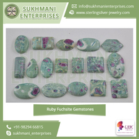 Precisely Processed and Polished Ruby Fuchsite Gemstones