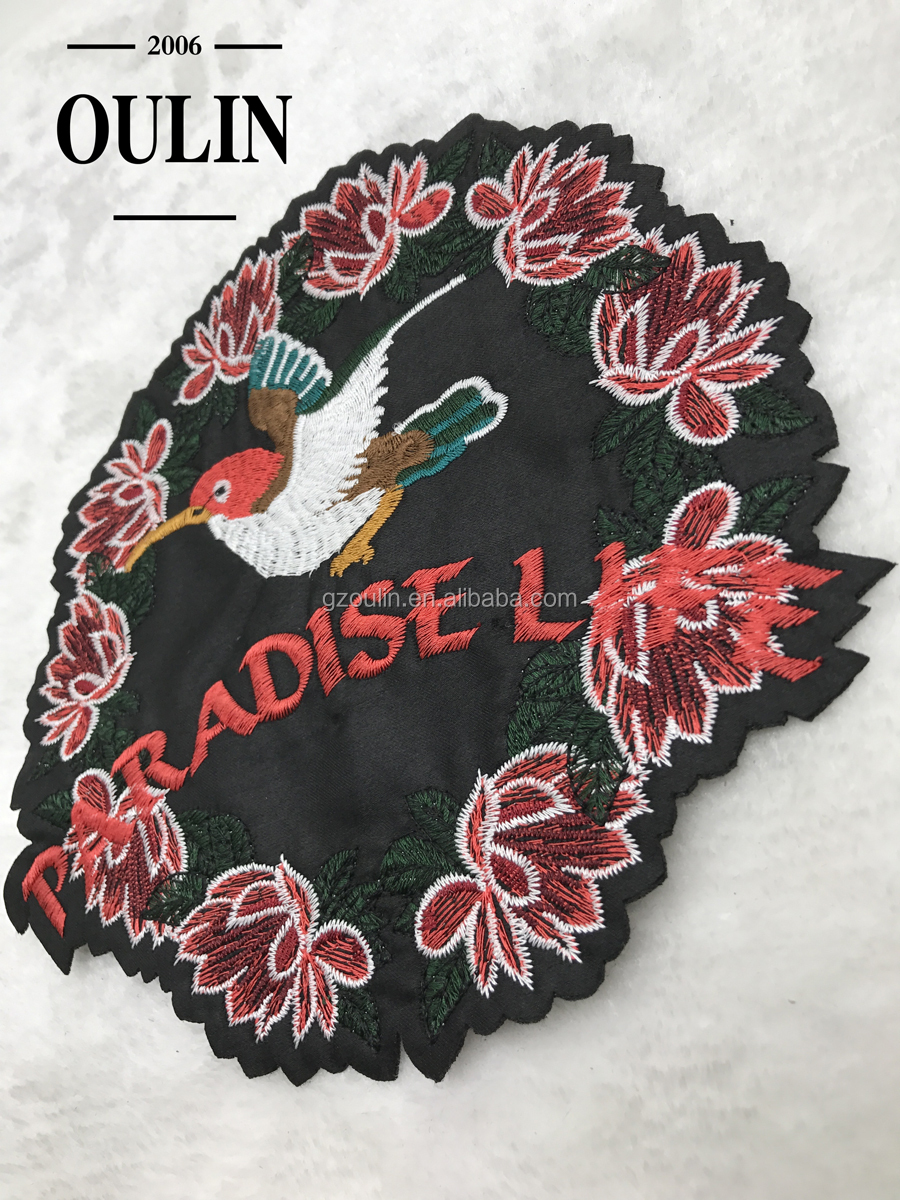 Embroidery patches circle patches with birds embroidery patches can sew on and iron on
