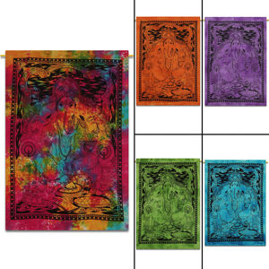 "Small Wall Hanging Multi Color Ganesha 30x40"" Home Decorative Bohemian 100% Cotton Tapestry"