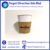 Custom Print Hot Drink Ripple Cup Sleeves VERY LOW MOQ 8-16oz