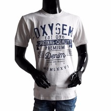 Oxygen Printed Round Neck Man T-Shirt Thematic Series Broken White Color