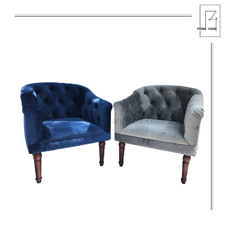 Own factory support customization 81*81*85 Velvet Chairs for restaurant traditional french accent chair