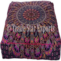 Indian Large Dog Bed Ethnic Mandala Floor Pillow Cotton Cushion Cover Bohemian Pet Bed Throw