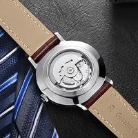 New Arrival classic brand watch men leather Factory custom logo automatic watch